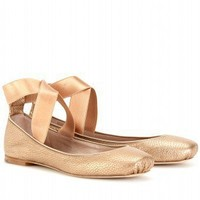 mytheresa.com -  Chloé - SQUARE TOE BALLERINAS - Luxury Fashion for Women / Designer clothing, shoes, bags