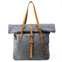 The Rolltop Tote | Waxed Stone