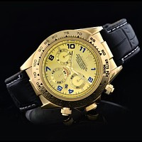 Rolex Ladies Men Fashion Beautiful Business Sport Movement Lovers Watch Wrist Watch Black Gold I-SBHY-WSL