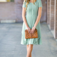 Ethel Pleated Party Dress