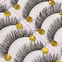 10 Pairs Black Natural Long Thick False Eyelashes Fake Eye Lashes Makeup Tips = 1668755396