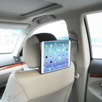 TFY Car Headrest Mount Holder for iPad Air (iPad 5 5th Generation), Fast-Attach Fast-Release Edition, Black