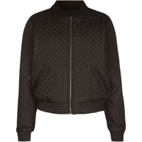 Full Tilt Girls Quilted Bomber Jacket Black  In Sizes