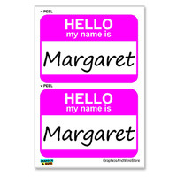 Margaret Hello My Name Is - Sheet of 2 Stickers