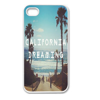 Apple iPhone 4 4G 4S / iPhone 5 5G / iPod Touch 5 Case Cover Skin California Design Mobile Phone Accessory