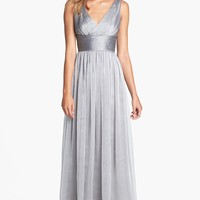 ML Monique Lhuillier Sleeveless Ruched Chiffon Dress (Nordstrom Exclusive)