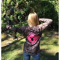 Deer Crossing Pink Camo UPF Long Sleeve Shirt