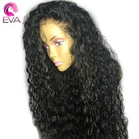 Hair Curly Lace Front Human Hair Wigs With Baby Hair Pre Plucked Brazilian Remy Hair Lace Front Wigs For Women Natural Black