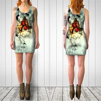 Body con dress - Party dress - mini dress - cocktail dress - teen fashion -  gift for her - hipster dress