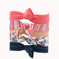 Striped Hair Tie Set | FOREVER 21 - 1000050762