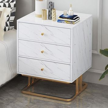 Spectacular Wooden White Night Stand