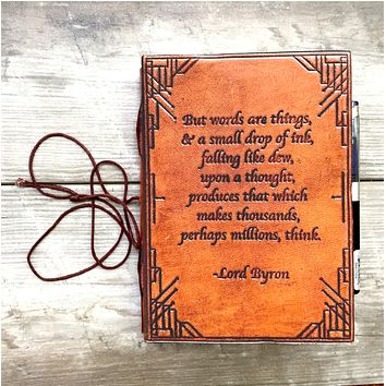 Lord Byron Quote Handcrafted Leather Embossed Journal
