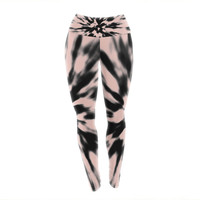 "Nika Martinez ""Tie Dye Rose"" Pink Abstract Yoga Leggings"