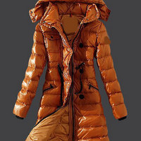 Thick Hooded Padded Long Sleeve Coat