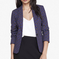 24 inch floral diamond print blazer from EXPRESS