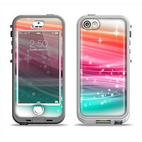The Vibrant Multicolored Abstract Swirls Apple iPhone 5-5s LifeProof Nuud Case Skin Set
