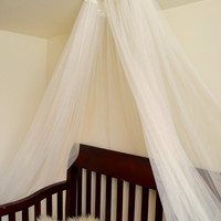 Tulle canopy for baby girl crib nursery or bed or photo prop Tulle canopy, Organza Canopy