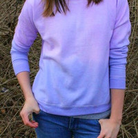 Dip Dye Ombre Pink and Purple Crewneck