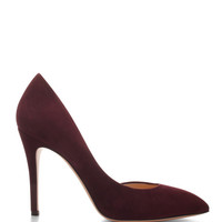 Charlotte Olympia The Lady Is A Vamp Suede Pumps Bordeaux