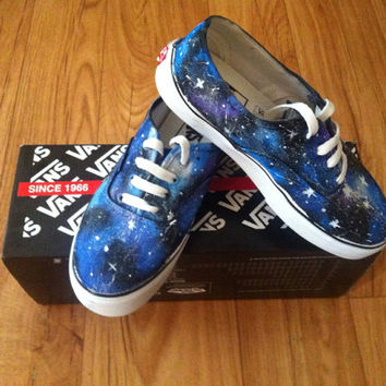 Galaxy Vans Shoes by denimtrend on Etsy