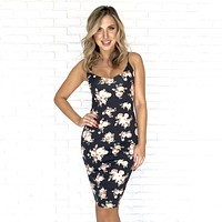 Key To My Heart Floral Bodycon Dress
