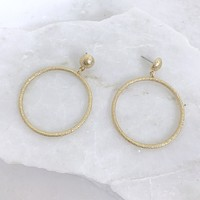 Give Me The Gold Hoop Earrings