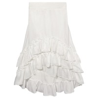 High-Low Ruffle Layered Skirt