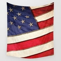 Patriotic American Flag Wall Tapestry by Conservative | Society6