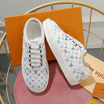 Louis Vuitton LV Women Fashion Letter Sneakers Sport Shoes