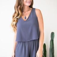 Find Yourself Grey Romper