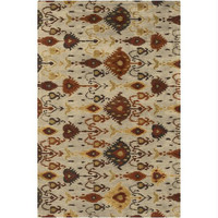 Area Rug - Papyrus Cream, Cumin Yellow, Wine Red, Russet Brown, Tea Leaves Green, Peanut Butter Brown, Espresso Brown