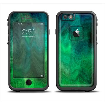 The Vivid Green Sagging Painted Surface Apple iPhone 6 LifeProof Fre Case Skin Set