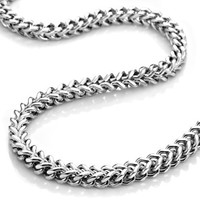Mens Stainless Steel Silver Necklace Link Chain XL