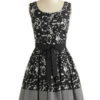 ModCloth Mid-length Sleeveless Fit & Flare Inkwell and Good Dress