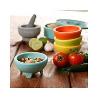 Salsa Bowl Dip Serving Party Dish Solid Multi-Color Plastic Dishwasher Safe
