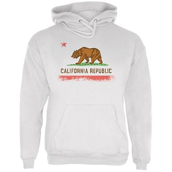 Born and Raised California State Flag Mens Hoodie