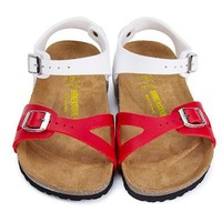 Birkenstock Leather Cork Flats Shoes Boys and girls Casual Sandals Shoes Soft Footbed Slippers