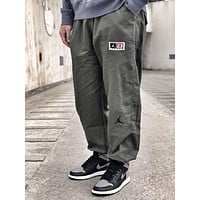 AIR JORDAN military style men's wild fashion tooling beam pants Green