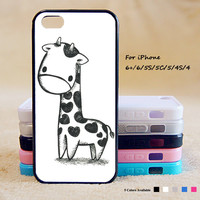 Cute Giraffe Phone Case For iPhone 6 Plus For iPhone 6 For iPhone 5/5S For iPhone 4/4S For iPhone 5C3 iPhone X 8 8 Plus