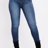 Luxe High Waist Skinny Jeans - Dark
