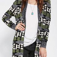 Urban Outfitters - Ecote Mix Intarsia Open-Front Cardigan