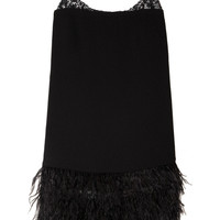 By Malene Birger|Wasuinia feather and sequin-embellished crepe dress|NET-A-PORTER.COM