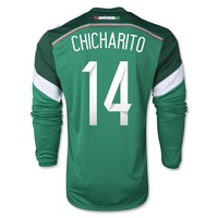 Mexico 2014 CHICHARITO LS Home Soccer Jersey - WorldSoccerShop.com