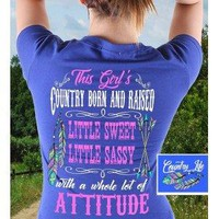 """Southern Attitude """"Country Girl"""" Short Sleeve Tee"""