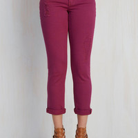 What the Trek? Jeans in Raspberry