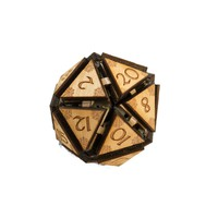 """20 Sided Dice - Art Kit - RAW Wood 1.5""""x1.5"""" (includes 1 die only)"""