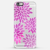 pink mums-transparent iPhone 6 Plus case by Sylvia Cook   Casetify