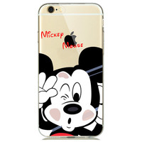 Disney Smashed Mickey Mouse Face Case for iPhone 7 7plus 6 6s Plus 5 5s SE
