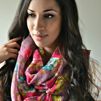 Floral infinity Scarf, Infinity