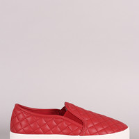 Breckelle Quilted Slip-On Sneakers